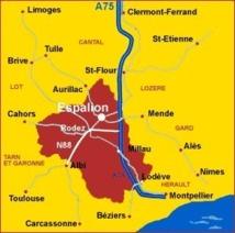 La Ville d'Espalion en Aveyron